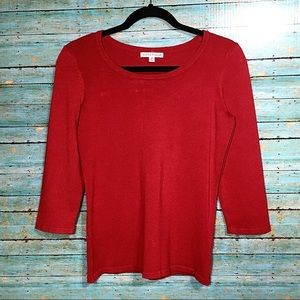 Soft & Comfy Notations Red Top Size Medium